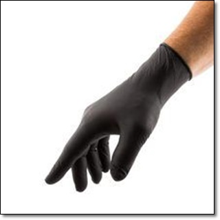 BLACK - Nitrile Gloves
