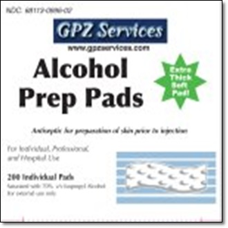 Alcohol Prep Pads - 200 Count