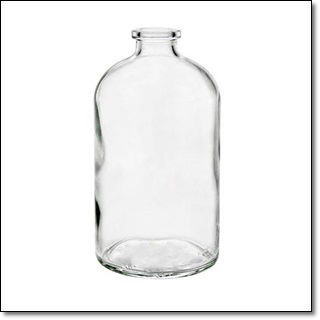 125 ML Unsealed Clear Vial